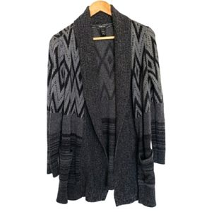 Sweaters - 4 for $25 grey print cardigan knit sweater
